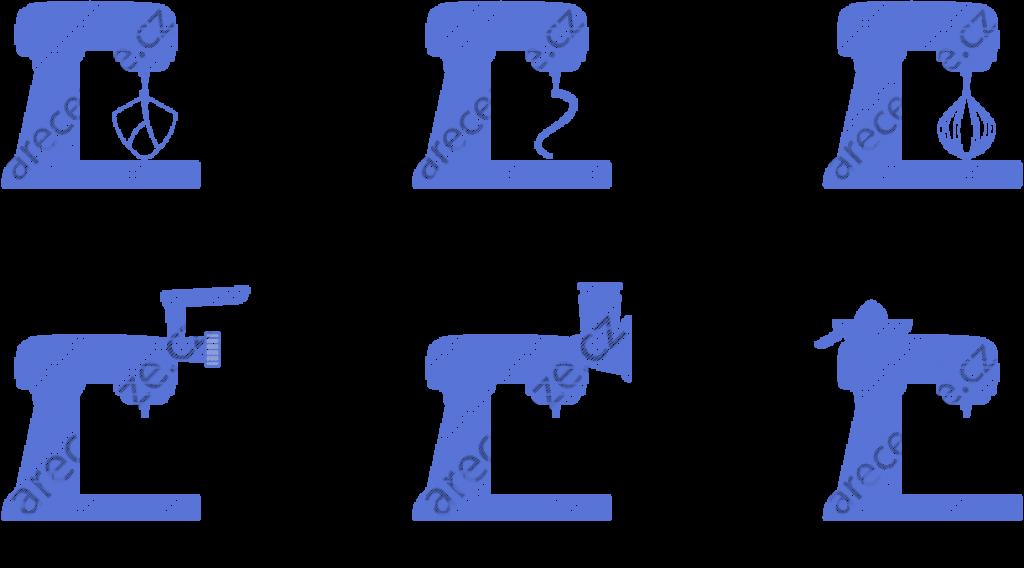 Schéma typů hnětačů