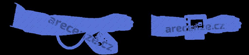 Schéma umístění tlakoměru